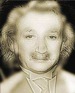 Albert Einstein up close and Marilyn Monroe from a distance
