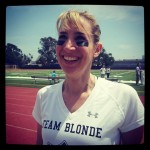 At last year's Blondes v Brunettes game.