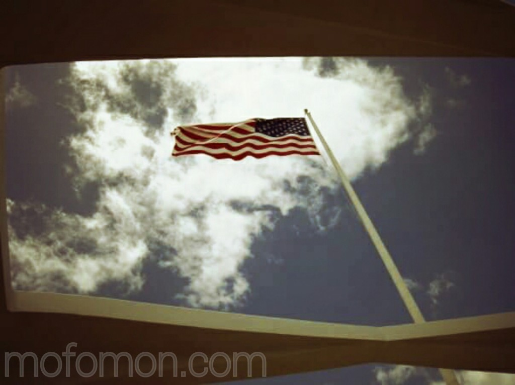 US flag at Pearl Harbor