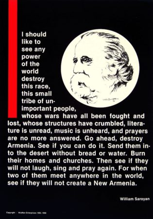 William Saroyan - Armenian Genocide